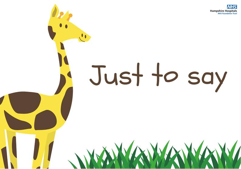 Just to say - Younger children - giraffe template.jpg